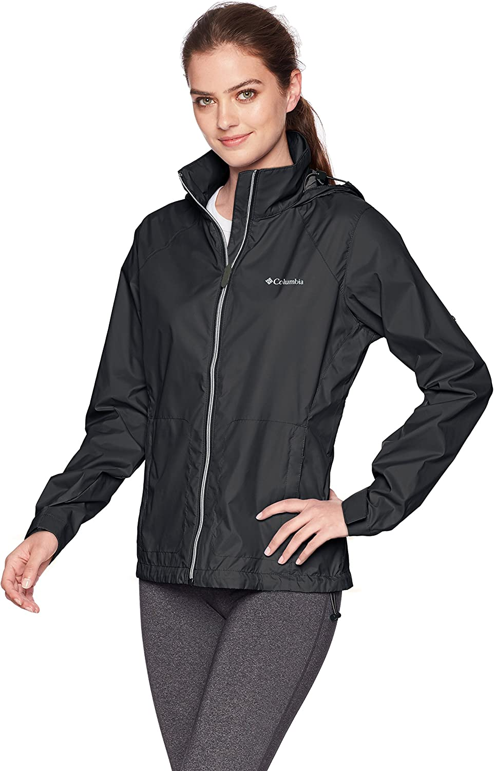 Columbia Womens Standard Switchback Iii Adjustable Waterproof Rain Jacket