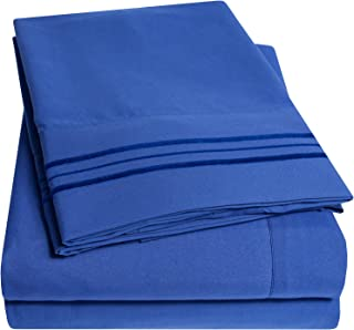 1500 Supreme Collection Bed Sheets Set - Premium Peach Skin Soft Luxury 4 Piece Bed Sheet Set, Since 2012 - Deep Pocket Wrinkle Free Hypoallergenic Bedding - Over 40+ Colors - Queen Size, Royal Blue