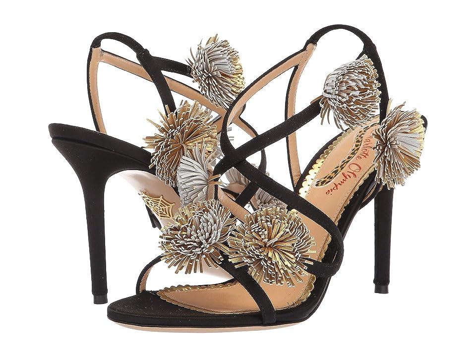 Charlotte Olympia HG Sandal Pompom (Black) High Heels