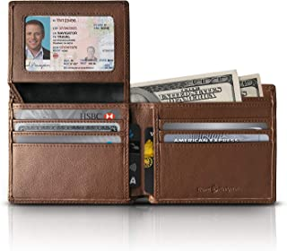 men's wallets brown leather