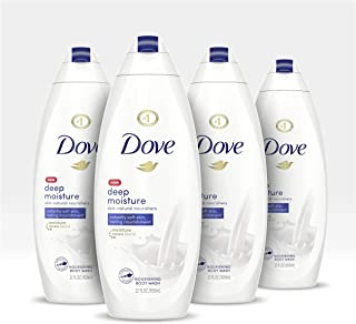 Dove Body Wash For Dry Skin Deep Moisture Sulfate Free Bodywash 22 oz 4 count