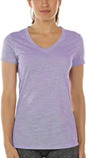 icyzone Workout Shirts for Women - Yoga Tops Activewear Gym Shirts Running Fitness V-Neck T-Shirts