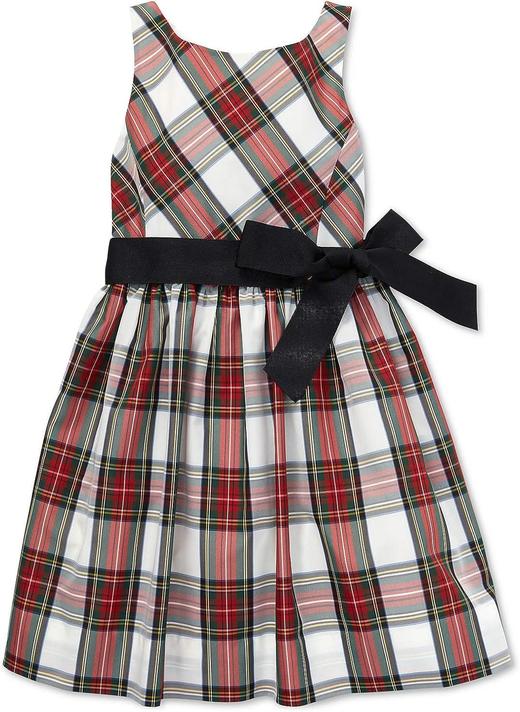 Ralph Lauren Polo Girls Taffeta Fit & Flare Sleeveless Party Dress 2 2T