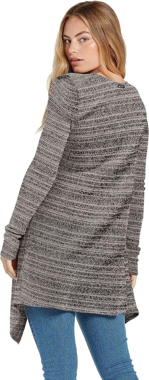 Volcom Women's Go Go Wrap Open Front Cardigan Sweater (Regular & Plus Size)