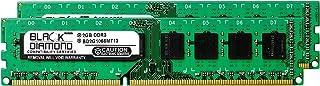 4GB 2X2GB RAM Memory for Gigabyte GA-7 Series GA-790FXTA-UD5 DDR3 DIMM 240pin PC3-8500 1066MHz Black Diamond Memory Module...