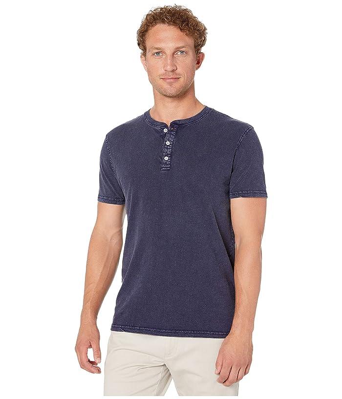 Lucky Brand  Sugar Magic Henley Shirt (Black Iris) Mens Clothing