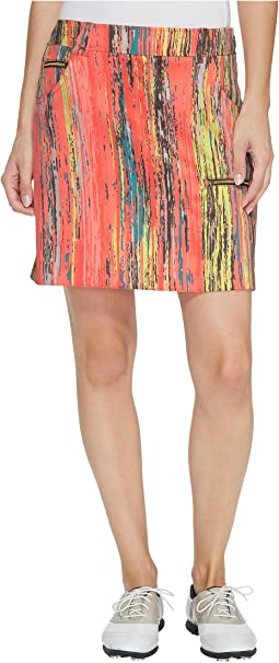 Jamie Sadock - Skinnylicious Parfait Print Side Zip and Button 18 in. Skort