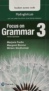 Focus on Grammar 3 MyLab English Access Code Card (My English Lab)