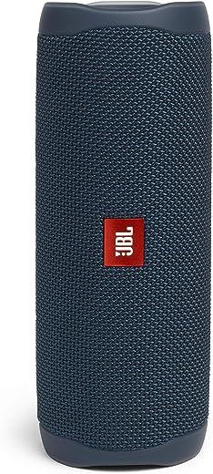 JBL Flip 5 Bluetooth Box in Blau – Wasserdichter, portabler Lautsprecher mit umwerfendem Sound – Bis zu 12 Stunden kabellos Musik abspielen