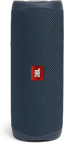 Portable JBL Flip 5 Portable Bluetooth Stereo Speaker with Bass Port, Blue, (JBLFLIP5BLU)