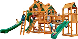 Gorilla Playsets Empire Extreme Swing Set with Wood Roof
