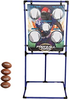 Sport Squad Target Toss Game Set - Choose Either Football Toss or Baseball Toss - Portable Indoor or Outdoor Design for Co...