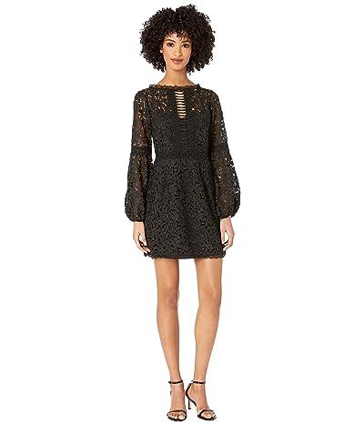 Nanette Lepore Scenic Lace Shift Dress (Black) Women