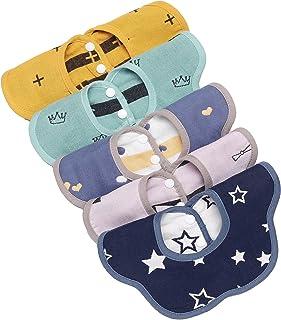 Baby Bibs ,Boy/Girl Saliva Bib,Fashion Cotton Bib,Absorbent Bib, Can Effectively Protect Baby's Delicate Skin (5pcs)