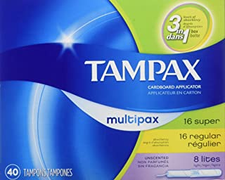 Tampax Multi-Pack Size 40s