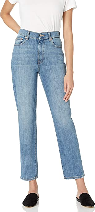 The Drop Women's Miranda High-Rise Straight Fit Ankle Jean