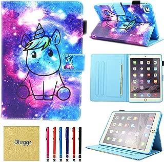 iPad Mini Case Cover, iPad Mini 2/3 Case, iPad Mini 4 Case, iPad Mini 5 Case, Dluggs Slim Fit Folio Smart Cover with Auto Sleep/Wake for iPad Mini 1/2/3/4/5 7.9 Inch Tablet, Space Unicorn