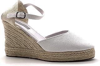 dc65750070373b Angkorly - Chaussure Mode Sandale Espadrille Folk/Ethnique Bohème  Romantique Femme avec de la Paille