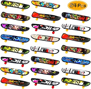 Oruuum 24 pcs Professional Finger Skateboard, Mini Skateboard with Pattern On Both Sides,..