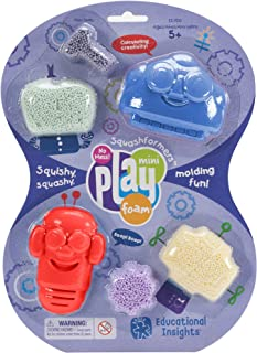 Educational Insights Playfoam Robots| Non-Toxic, Never Dries Out | Sensory, Shaping Fun, Arts & Crafts For Kids | 4 Pods o...