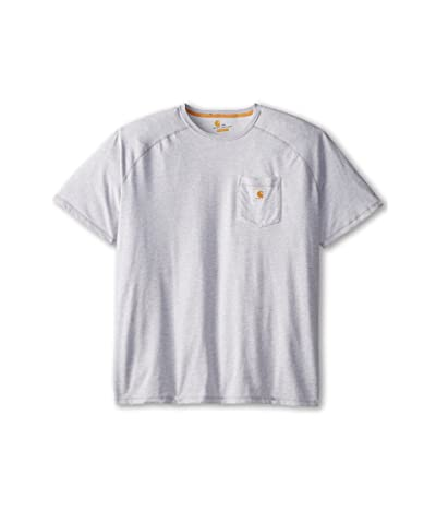 Carhartt Big Tall Force Cotton S/S T-Shirt (Heather Gray) Men