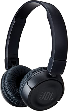 JBL T450BT Wireless On-Ear Headphones with Built-in Remote and Microphone (Black)