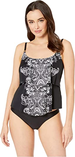 Moroccan Paisley Tiered Tankini Top