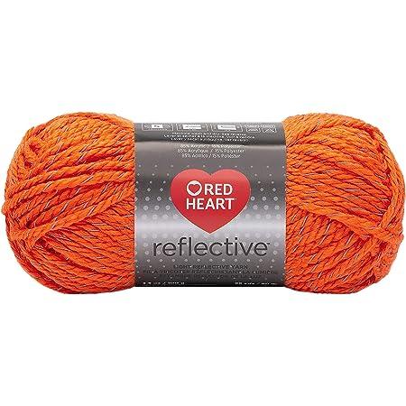 Coats Yarn Red Heart Reflective Yarn-Neon Orange, Other, Multicoloured