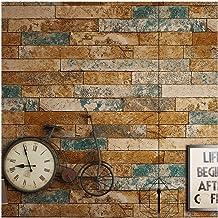 HIZLJJ Removable wallpaper peel and stick wallpaper Self-Adhesive Wallpaper Brick 3D Effect Contact Paper Fireplace Peel-S...