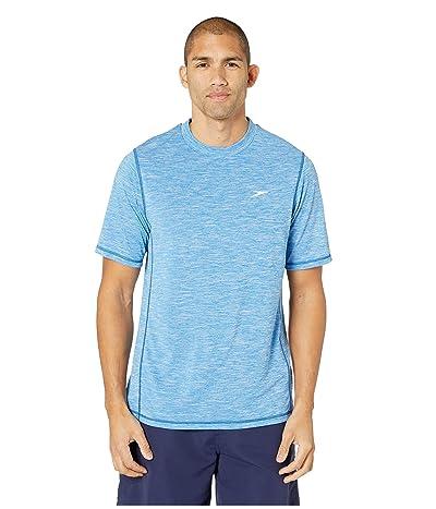 Speedo Space Dye Short Sleeve Swim Tee (Classic Blue) Men