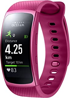 Samsung Gear Fit Smart Wrist Watch with Heart Rate Monitor and notifications II-Pink (S)