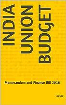 India Union Budget: Memorandum and Finance Bill 2018