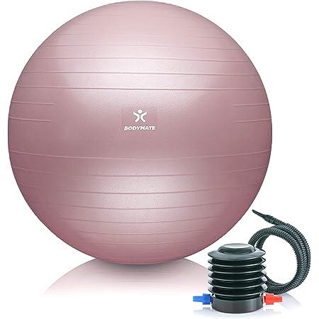 Gaiam yoga stabilité Balle 65 Cm Fitness Exercice pompe à air Guide Manuel Rouge