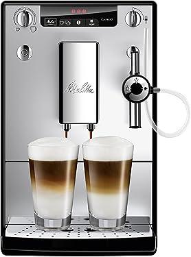 Melitta Caffeo Solo & Perfect Milk E957-103 Schlanker Kaffeevollautomat mit Auto-Cappuccinatore | Automatische Reinigungsprogramme | Automatische Mahlmengenregulierung | Silber