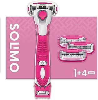 Amazon-merk - Solimo vrouwelijke 5 messcheermes met 3-in-1 trimmer en 4 messen