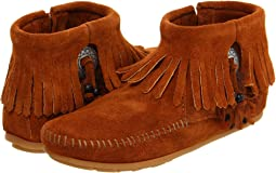 Minnetonka - Concho/Feather Side Zip Boot