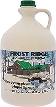 Frost Ridge Maple Farm, Organic Maple Syrup, Grade A, Gallon (128 FL Oz), Dark Robust (formerly Grade B)