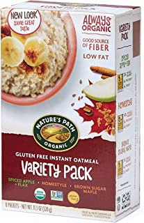 Sponsored Ad - Nature's Path Organic Gluten Free Instant Oatmeal, Variety Pack, 48 Packets (Pack of 6, 11.3 Oz Boxes)