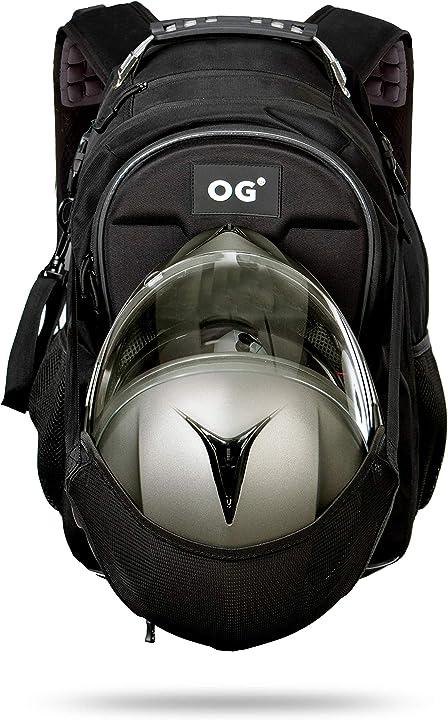 Zaino moto impermeabile espandibile 30-35l borsa porta-casco moto og online&go cityrunner MC06CR