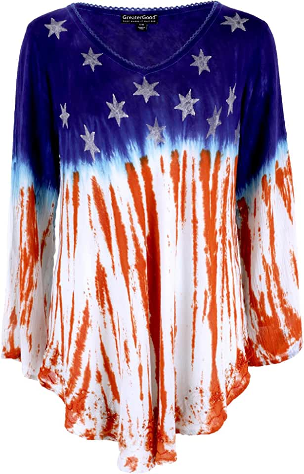 GreaterGood Stars & Stripes Long Sleeve American Flag Tunic