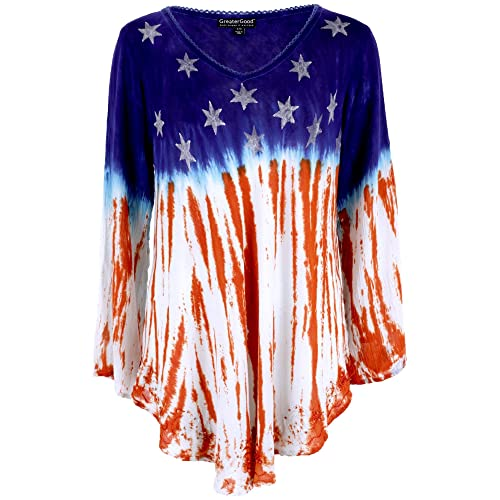 GreaterGood Stars   Stripes Long Sleeve American Flag Tunic acc667719d