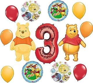لوازم حفلات ويني ذا بوه 3rd Birthday بوكيه ديكورات.