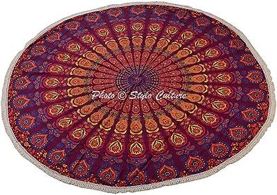 Amazon.com: Stylo Cultura étnico Roundie Mandala Manta Ojo ...