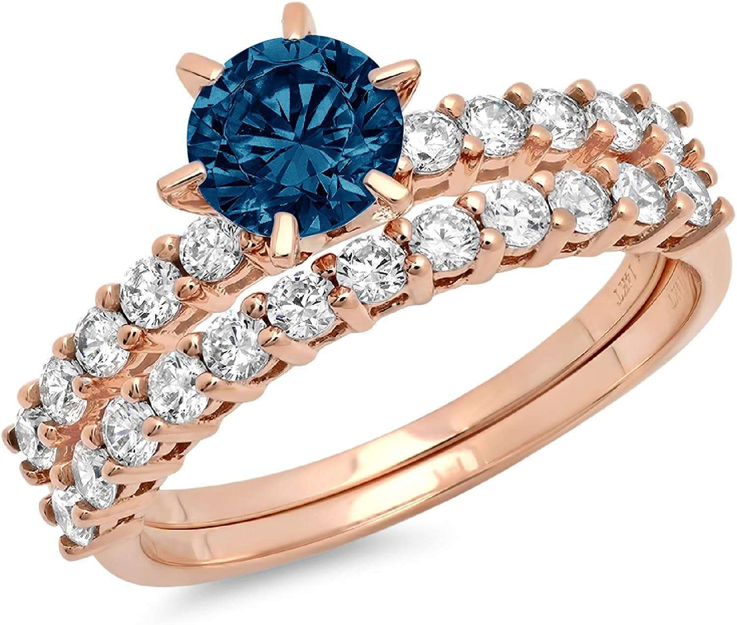 3.0ct Round Cut Pave Solitaire Overseas parallel import regular item Mesa Mall Natural Blue Topaz Accent London