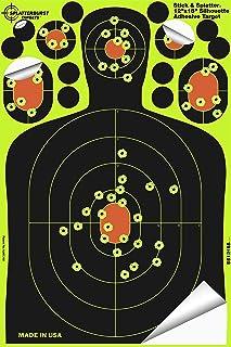 Splatterburst Targets - 12 x18 inch - Stick & Splatter Silhouette Self Adhesive Shooting Targets - Shots Burst Bright Fluo...