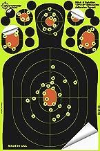 Splatterburst Targets - 12 x18 inch - Stick & Splatter Silhouette Self Adhesive Shooting Targets - Shots Burst Bright Fluorescent Yellow - Gun - Rifle - Pistol - Airsoft - Air Rifle