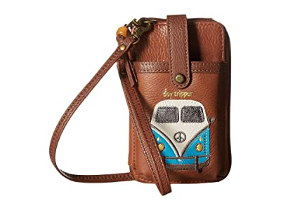 The Sak Iris North/South Smartphone Crossbody (Tobacco Bus) Cross Body Handbags