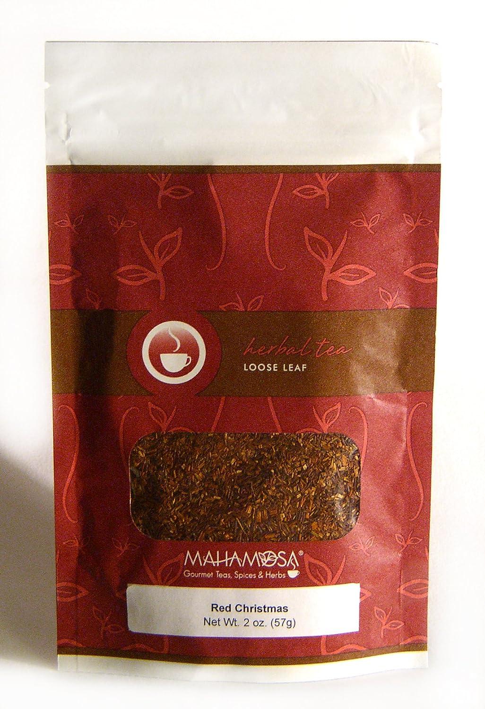 Mahamosa Red Christmas 2 oz - Rooibos Herbal Tea Blend Loose Leaf (Looseleaf) (with apple, cinnamon, orange, almond)