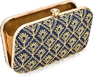 INAAYA Embroidered Wedding Clutch Evening Bag ladies purse sling handbags for women