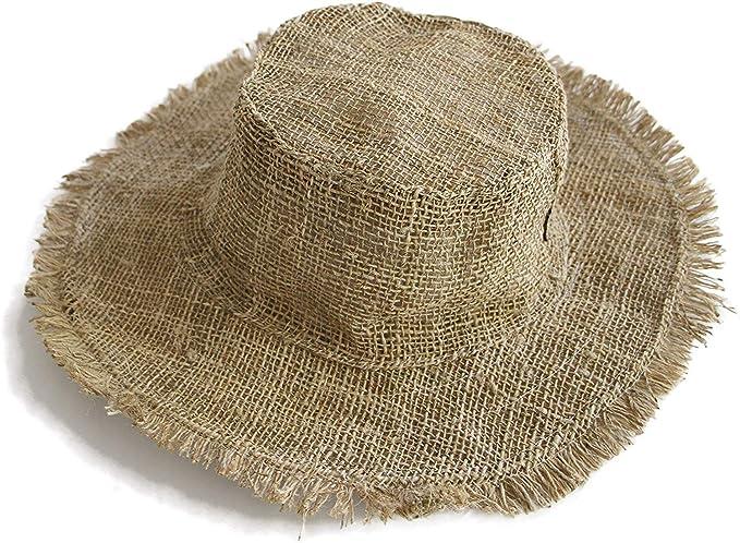 Hippie Hats,  70s Hats manakamana Handmade Hemp Sun Hat – Wired Wide Brim Hat for Men and Women  AT vintagedancer.com